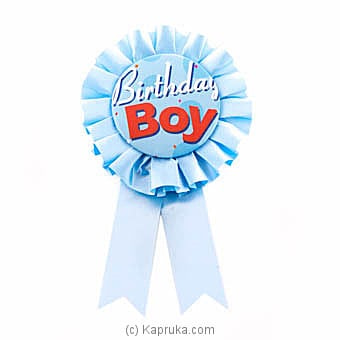 Birthday Boy Blue Award Ribbon Online at Kapruka | Product# partyP00124