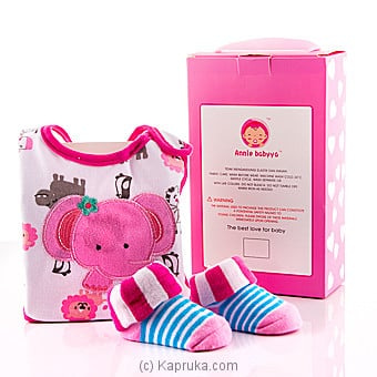 Bib With Shoe Socks Gift Pack Pink Online at Kapruka | Product# babypack00246_TC1