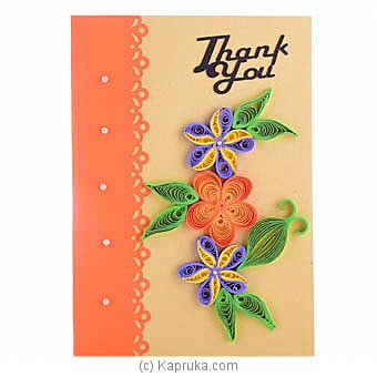 Handmade Thank You Greeting Card Online at Kapruka | Product# greeting00Z1604