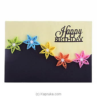 Handmade Birthday Greeting Card Online at Kapruka | Product# greeting00Z1601