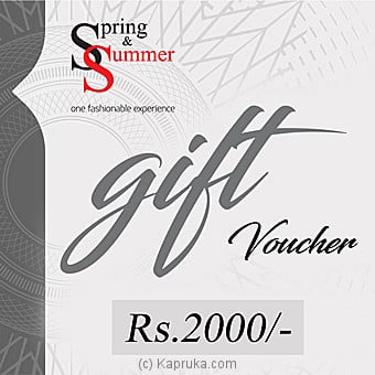 Rs 2000 Spring And Summer Gift Voucher Online at Kapruka | Product# giftV00Z129
