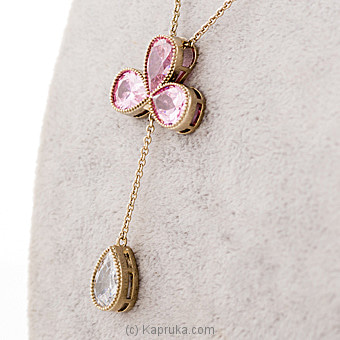Pink Crystal Stones Pendant With Chain Online at Kapruka | Product# jewllery00SK596