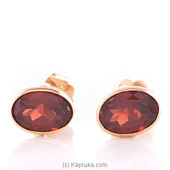 Vogue 18K Gold Ear Stud Set With 2 Color Stone Online at Kapruka | Product# vouge00345