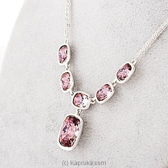 Purple Crystal Necklace Online at Kapruka | Product# jewllery00SK635