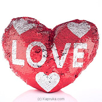 Fall In Love Glittery Pillow Online at Kapruka | Product# softtoy00550