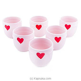 Candy Love Ceramic Dessert Cup Set Online at Kapruka | Product# household00332