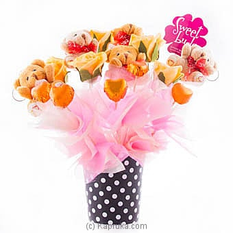 Peach Teddy Rose Online at Kapruka | Product# chocolates00746