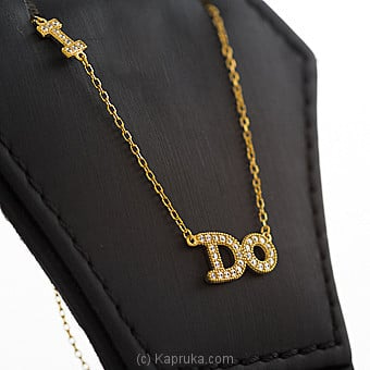 `I Do` Letter Pendant With Necklace Online at Kapruka | Product# jewllery00SK668