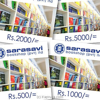 Sarasavi Bookshop Gift Vouchers Rs 500 Voucher Online at Kapruka | Product# giftV00Z159_TC1