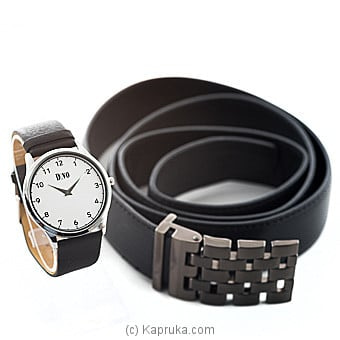 Men`s Watch And Belt Gift Set Online at Kapruka | Product# stoneNS0304