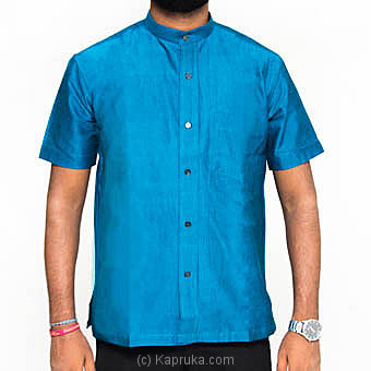 Homins Handloom Short Sleeve Light Blue Shirt  Medium Online at Kapruka | Product# clothing0603_TC1