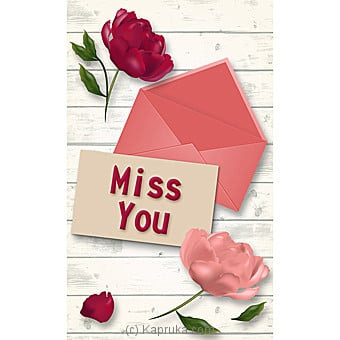 Miss You Greeting Card Online at Kapruka | Product# greeting00Z1794