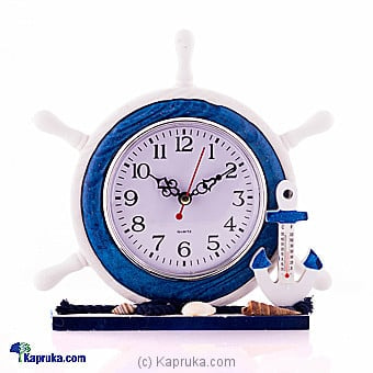 Nautical Anchor With Boat Steering Wheel Table Clock Online at Kapruka | Product# ornaments00628