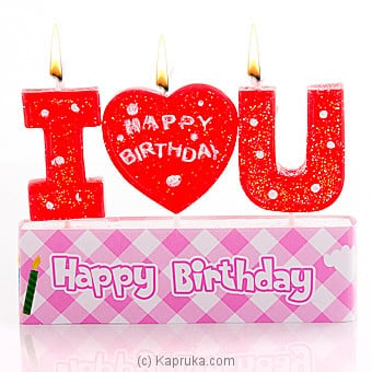 I Love You Birthday Candle Online at Kapruka | Product# candles00117