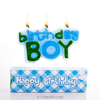 Birthday Boy Candles Online at Kapruka | Product# candles00122