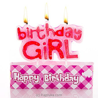 Birthday Girl Candles Online at Kapruka | Product# candles00123