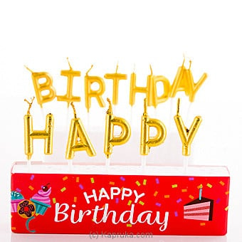 Happy Birthday Letter Candles Online at Kapruka | Product# candles00126