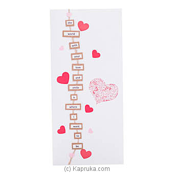 Love You Handmade Greeting Card Online at Kapruka | Product# greeting00Z1814