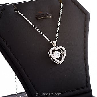 Crystal Heart Pendant With Chain Online at Kapruka | Product# jewllery00SK726