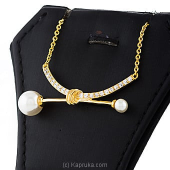 Pearl With Crystal Stones Necklace Online at Kapruka | Product# jewllery00SK735