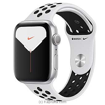 Apple Iwatch Series 5 - 44mm Silver Aluminum GPS Nike Sport Band Online at Kapruka | Product# elec00A1733