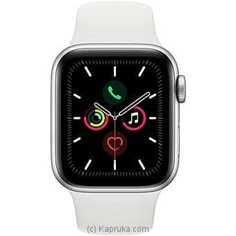 Apple Iwatch Series 5 - 44mm Silver Aluminum GPS - White Sport Band Online at Kapruka | Product# elec00A1735