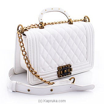 Chanel White Leather Bag Online at Kapruka | Product# fashion001100