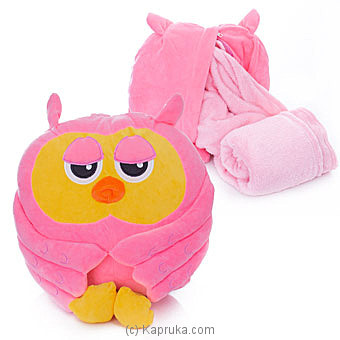 Pink Owl Blanket Online at Kapruka | Product# softtoy00617