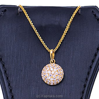 Vogue 22k gold pendant with 52(c/Z) rounds Online at Kapruka | Product# vouge00362