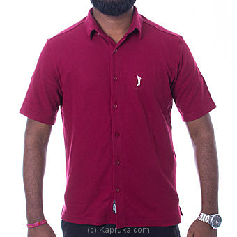 Golf Short Sleeve Shirt - Maroon - Small Online at Kapruka | Product# clothing0671_TC1