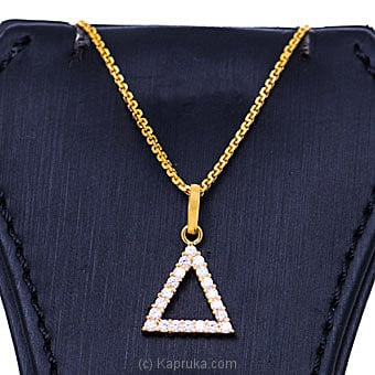 Vogue 22k gold pendant  with 20(c/Z) rounds Online at Kapruka | Product# vouge00364