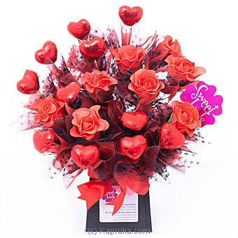 Red Rose Hearts Online at Kapruka | Product# chocolates00861