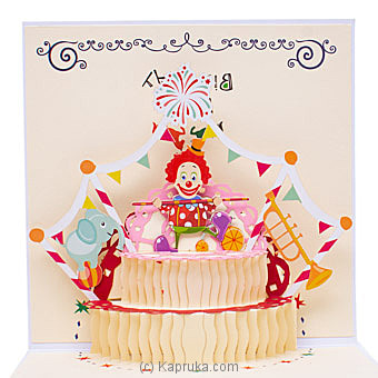 Happy Birthday 3D Popup Greeting Card Online at Kapruka | Product# greeting00Z1939