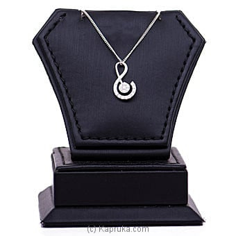 18k White Gold Pendant With Chain (AJP 3970) Online at Kapruka | Product# alankara00157