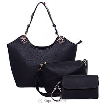 Black Trendy Ladies Handbag Online at Kapruka | Product# fashion001211