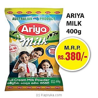 Ariya Milk Powder - 400g Online at Kapruka | Product# grocery00887