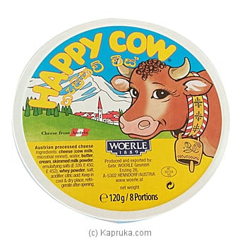 Happy Cow Cheese -120g (8 Portions) Online at Kapruka | Product# grocery00929