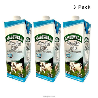 Ambewela Non Fat Milk - 1L - 3 Pack Online at Kapruka | Product# grocery00931