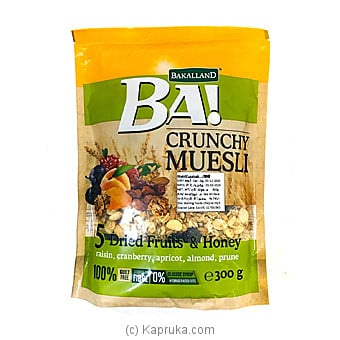 BA! Crunchy Muesli 5 Dried Fruits & Honey (300g) Online at Kapruka | Product# grocery001013