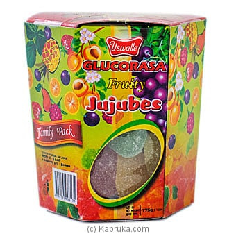 Glucorasa Fruity Jujubes Family Pack By Uswatte- 175g Online at Kapruka | Product# grocery001025