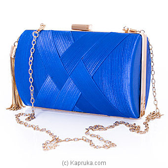 Clutch- Glamour Of Blue Evening Ladies Clutch Online at Kapruka | Product# fashion001237