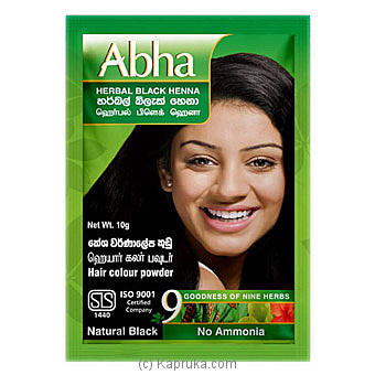 Abha Herbal Powder Hair Colour 10g Online at Kapruka | Product# cosmetics00406