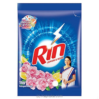 Rin Lemon And Rose Detergent Powder- 1 KG Online at Kapruka | Product# grocery001105