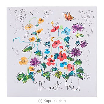 Hand Painted Thank You Greeting Card Online at Kapruka | Product# greeting00Z1975