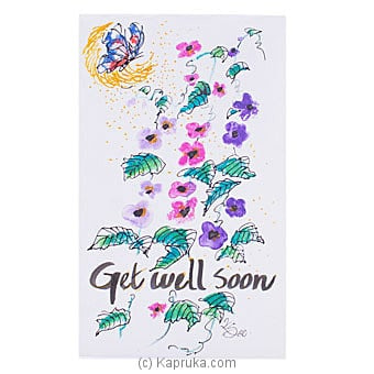 Hand Painted Get Well Soon Greeting Card Online at Kapruka | Product# greeting00Z1977
