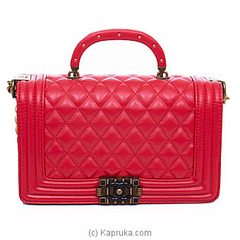 Chanel Red Leather Bag Online at Kapruka | Product# fashion001283