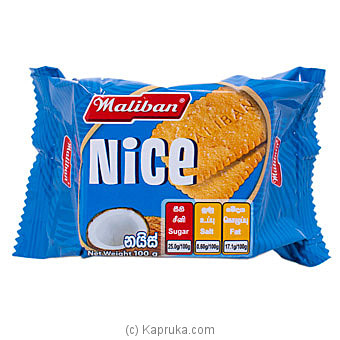 Maliban Nice Biscuits 100g Online at Kapruka | Product# grocery001237