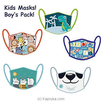 Kid`s Masks- Boy`s 5 Masks Pack Online at Kapruka | Product# childrenP0474