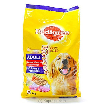 PEDIGREE ADULT Chicken And Vegetables 3 Kg Online at Kapruka | Product# grocery001247