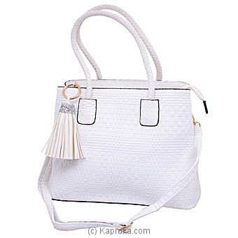 Exclusive White Ladies Handbag  Online at Kapruka | Product# fashion001285